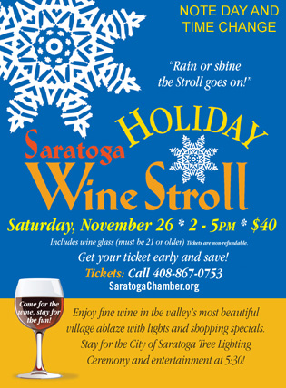 2016winestroll - Saratoga Holiday Wine Stroll